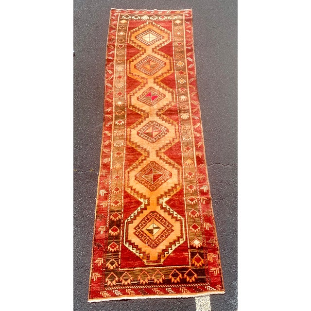"1950's Vintage Turkish Anatolian Runner Rug - 3'2""x11'2"" For Sale - Image 13 of 13"