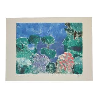 "Arthur Krakower (1921-2009) ""Snowmass Ii"" Original Monotype C.2004 For Sale"