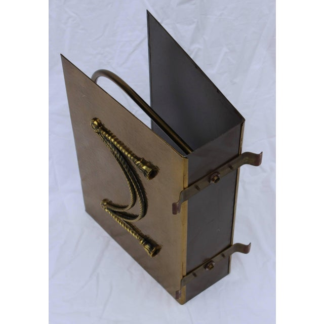 Metal English Brass Magazine Holder by Peerage For Sale - Image 7 of 11