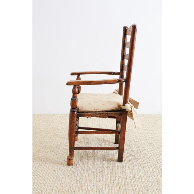 Wood 19th Century English Ladder Back Chair For Sale - Image 7 of 13