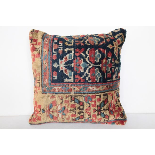 "This is beautiful Carpet pillow, it""s made from antique Caucasion rug. it has been soft washing before be come a..."