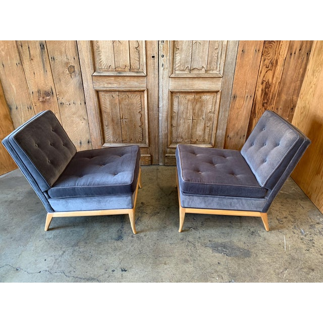 Mid 20th Century Vintage Mid Century Slipper Chairs- A Pair For Sale - Image 5 of 6
