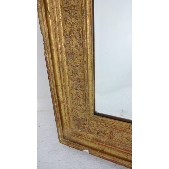 Gilded French Wall Mirror For Sale - Image 5 of 6