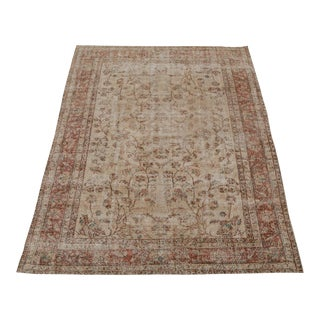 "Vintage Turkish Hand Knotted Rug - 9'8"" x 6'7"""