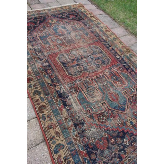 """Antique Persian Rug - 3'6"""" x 6'2"""" - Image 4 of 8"""