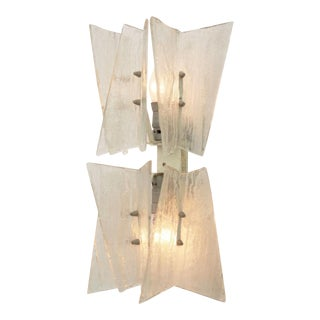 Frosted glass wall light by JT Kalmar for Kalmar, 1960s For Sale