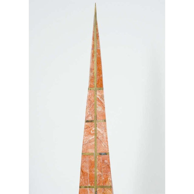Pair of Bronze Inlay and Stone Obelisks by Casa Bique For Sale - Image 9 of 10