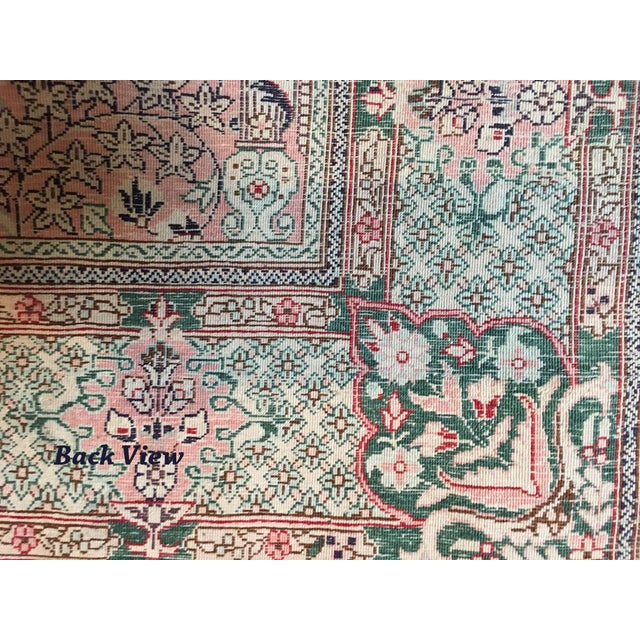 Silk Hereke Prayer Area Rug - 2′6″ × 4′ For Sale - Image 5 of 7