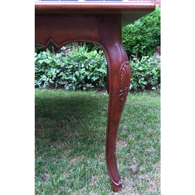 French Louis XV-Style Square Dining Table - Image 6 of 7