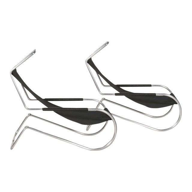 "Pair of Giudici ""Lido"" Deckchairs For Sale"