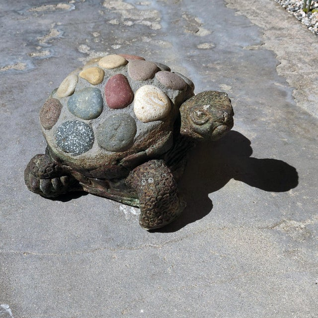 Children's 1990s Vintage Organic Rustic Figural Desert Tortoise Statue For Sale - Image 3 of 7