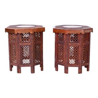 Anglo Indian Inlaid End Tables - A Pair For Sale