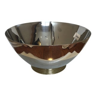 Michael Aram Large Footed Stainless Steel Bowl For Sale