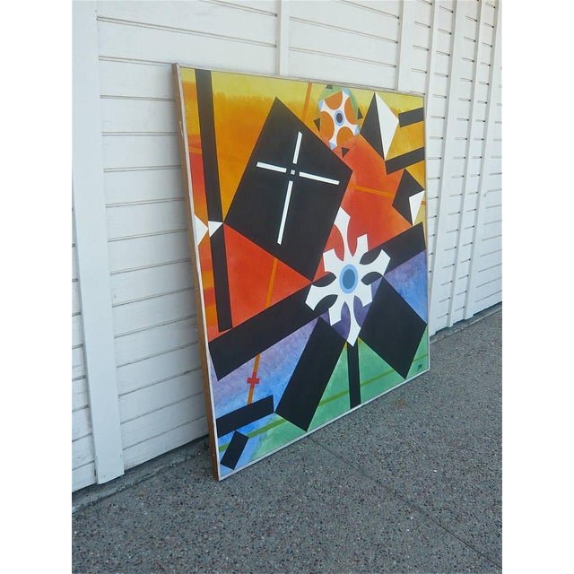 Geometric Abstract Painting by James McCray, 1966 For Sale In Palm Springs - Image 6 of 10