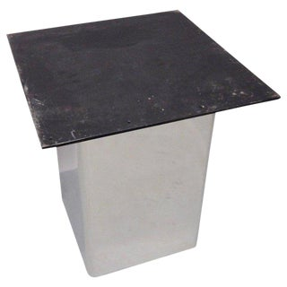 Custom Built Stainless Steel Base Pedestal or Table For Sale