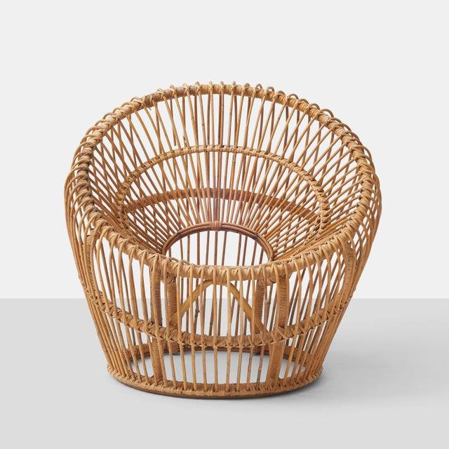 Danish Modern Franco albini rattan chair For Sale - Image 3 of 6