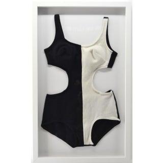 """Vintage """"Mod"""" Bathing Suit, Framed For Sale"""