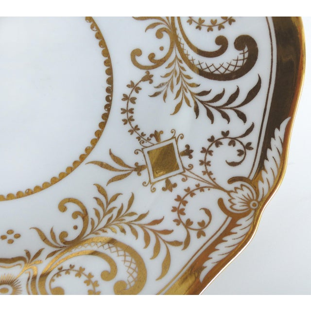 Spode Copeland Spode Gilt Decorated Dessert Plates, Retailed by Wh Plummer- Set of 11 For Sale - Image 4 of 9