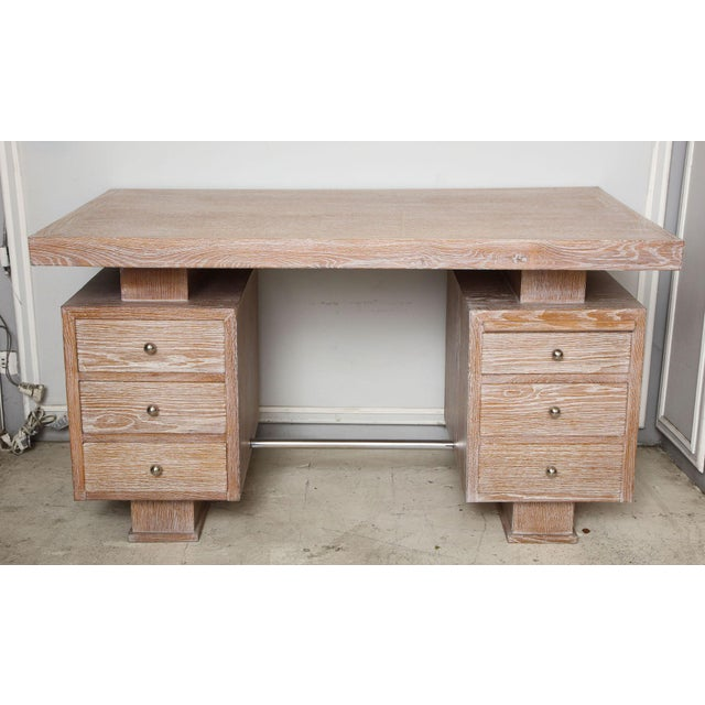 French Cerused Oak Desk For Sale - Image 11 of 11