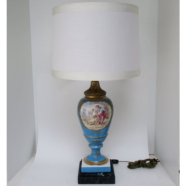 White Maxant Porcelain Table Lamp For Sale - Image 8 of 8