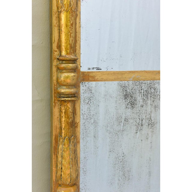 Mid 19th Century 19th Century Empire Giltwood Pier Mirror For Sale - Image 5 of 8