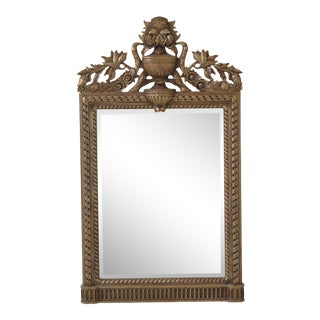 1990s Vintage Maitland Smith Ornate Gold Framed Kuba Framed Mirror For Sale