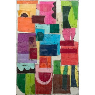 """Castling No. 1"" - Encaustic Collage Painting by Gina Cochran For Sale"