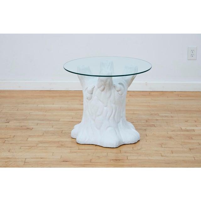 Vintage Plaster Tree Trunk Side Table For Sale - Image 13 of 13