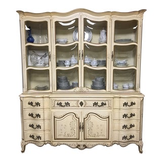 Karges Breakfront French Provincial China Cabinet For Sale