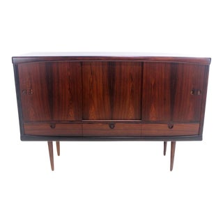 Scandinavian Modern Rosewood Credenza Designed by H.W. Klein For Sale