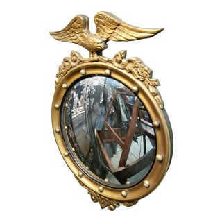 Small Federal Style Bullseye Mirror For Sale