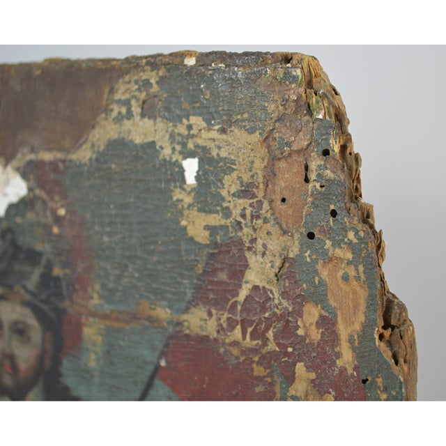 18th Century Spanish Colonial Folk Retablo of St. James the Moor-Slayer For Sale - Image 9 of 13
