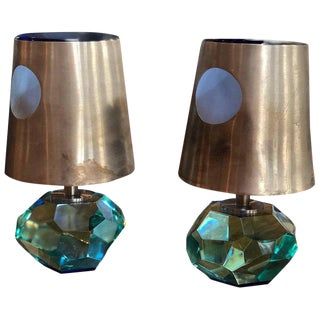 Pair of Max Ingrand Table Lamps Mod 2228 for Fontana Arte For Sale