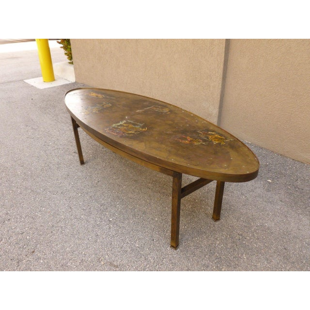 1960's Vintage Philip and Kelvin Laverne Chinese Design Bronze Coffee Table For Sale In Miami - Image 6 of 13