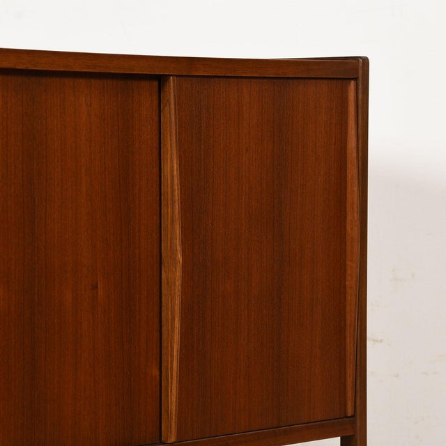 Wood Compact Mid-Century Swedish Modern Cabinet in Walnut by Dux For Sale - Image 7 of 13