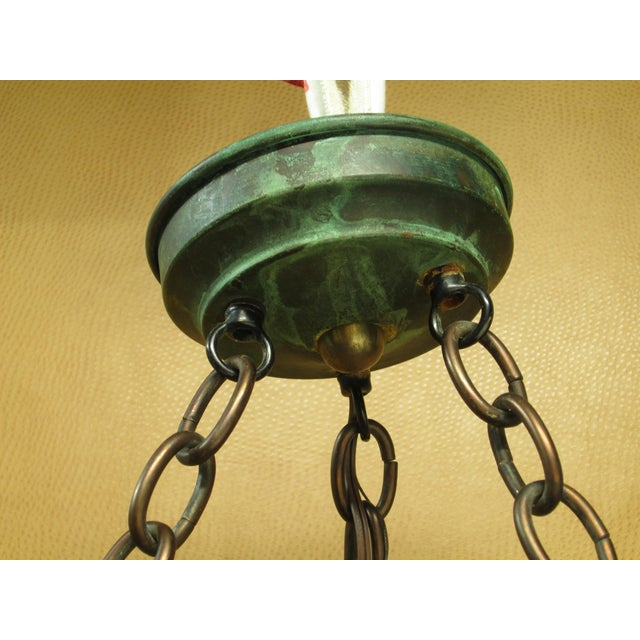 1980s Vintage Arts and Crafts Mica Mesa Pendant Lamp For Sale - Image 5 of 10