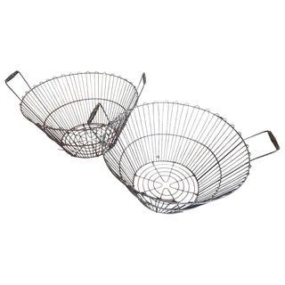 Vintage Metal Baskets For Sale