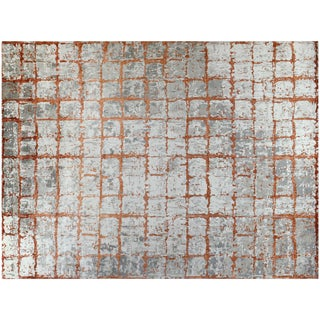 Contemporary Wool Rusty Rug - 11′10″ × 15′4″ For Sale