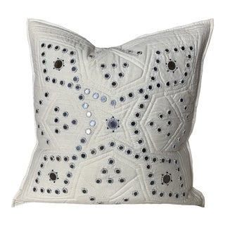 Handmade in Pakistan Embellished Pillow Cover For Sale