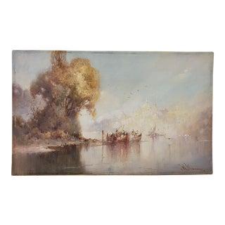 "William Knox ""Dream City"" Original Watercolor C.1920 For Sale"