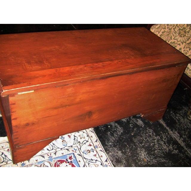 Brown 18c Pennsylvania Cherrywood & Cedar Blanket Chest For Sale - Image 8 of 10