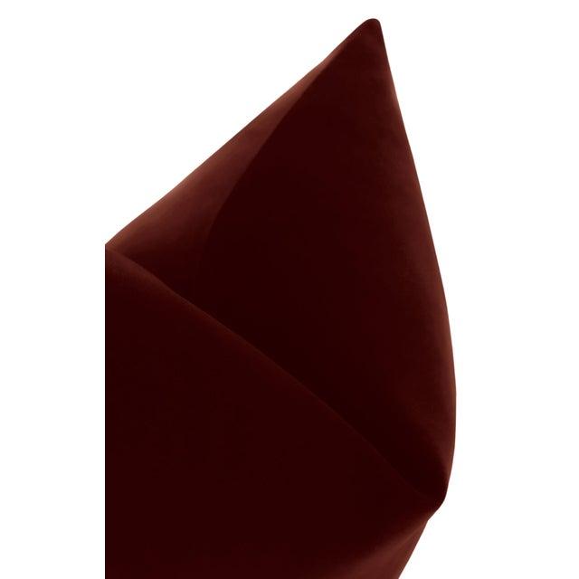 """22"""" Oxblood Italian Velvet Pillows - a Pair For Sale - Image 4 of 5"""