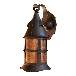 1920s Arts and Crafts Storybook Porch Lantern Light For Sale