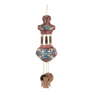 Mid Century Chilean Mapuche Abstract Ceramic Mobile Wind Chimes For Sale