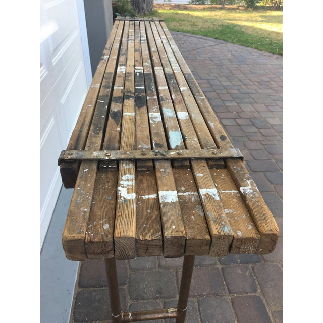 Antique Scaffolding Table For Sale - Image 9 of 11
