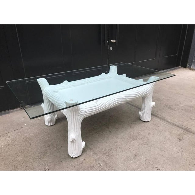 White Vintage Wood Coffee Table Manner of John Dickinson For Sale In New York - Image 6 of 6