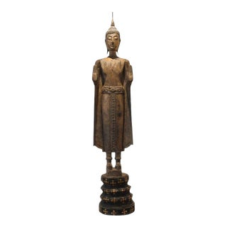 Antique Buddha Statue Laos Southeast Asia For Sale
