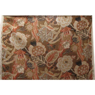 Schumacher ''Zanzibar Linen Print'' in Sandalwood