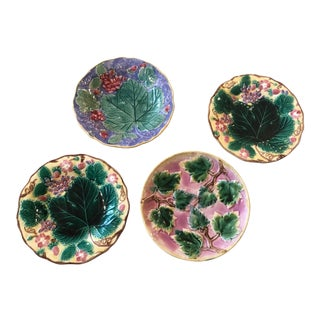 Majolica Leaf Plates- Set of 4