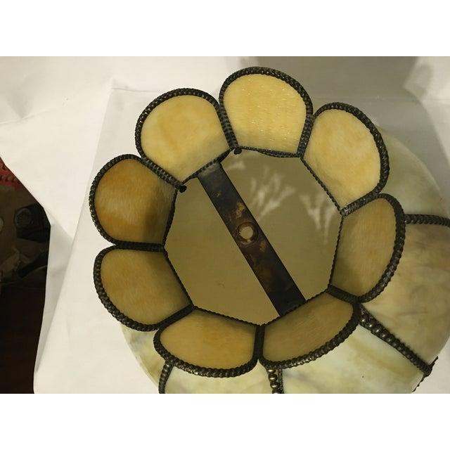 Cream & Tan Slag Glass Lamp Shade - Image 5 of 7